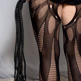 7 Tail Black Flogger